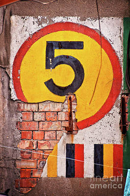 Urban Art Photograph - Wall Five by Delphimages Photo Creations