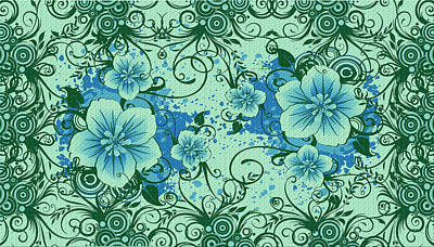 Wall Flower 8 Art Print by Evelyn Patrick
