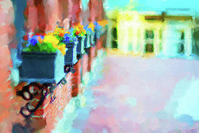Painting - Wall Flower On The Mills In Amesbury Ma by Thomas Logan