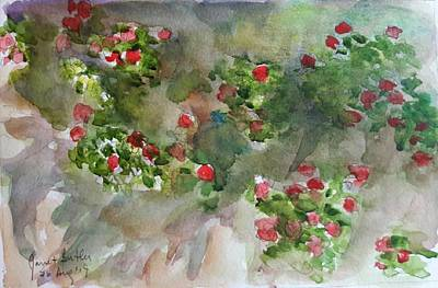 Wall Flowers Art Print by Janet Butler