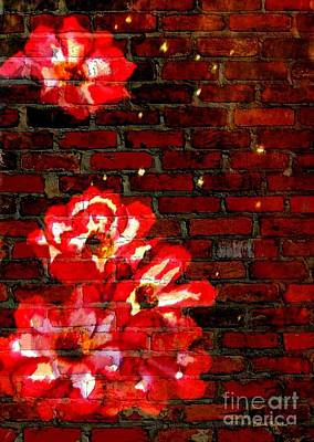 Mixed Media - Wall Flowers by Leanne Seymour