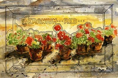 Wall Flowers Art Print by Shirley Sykes Bracken
