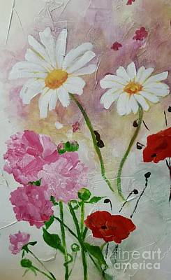 Painting - Wall Flowers by Stephanie Broker