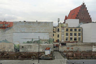 Photograph - street and walls in Wroclaw, Poland by Dubi Roman