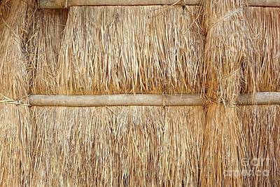 Photograph - Wall Made From Straw And Bamboo by Yali Shi