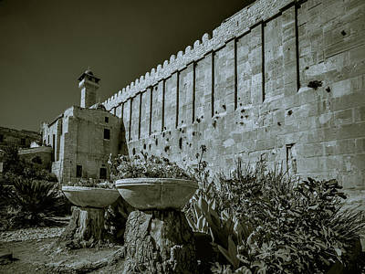 Photograph - Wall Of Cave Of The Patriarchs by Mark Perelmuter
