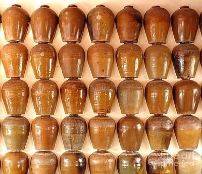 Photograph - Wall Of Ceramic Jugs by Yali Shi