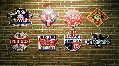 Photograph - Wall Of Championships - Fenway Park by Allen Beatty