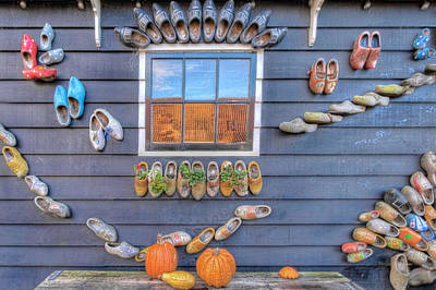 Photograph - Wall Of Clogs by Nadia Sanowar
