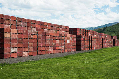 Photograph - Wall Of Crates by Tom Cochran