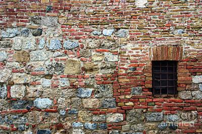 Kids Alphabet - Wall of Different Stones in Siena 1294 by Jack Schultz