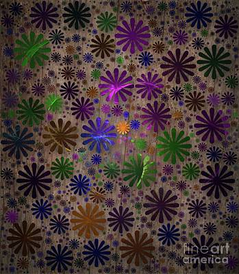 Science Fiction Royalty-Free and Rights-Managed Images - Wall of Flowers by Sarah Kirk