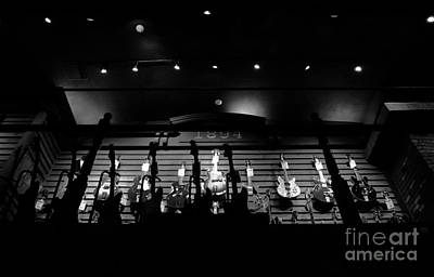 Photograph - Wall Of Guitars 3 - Guitar Center Hollywood by Gem S Visionary
