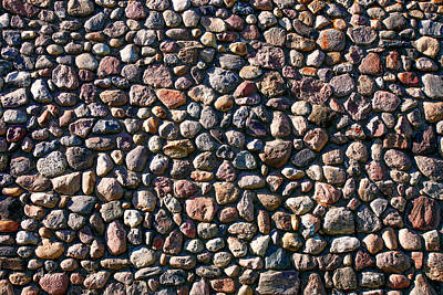 Photograph - Wall Of Many Different Rocks And Stones by Todd Klassy
