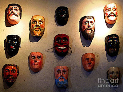 Patzcuaro Photograph - Wall Of Masks 1 by Mexicolors Art Photography