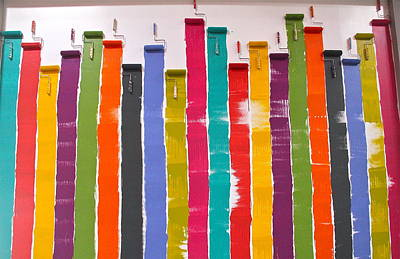 Photograph - Wall Of Paint Rollers by Denise Mazzocco