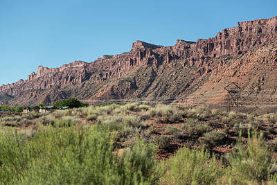 Photograph - Wall Of Red Rock by Tom Cochran