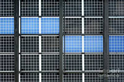 Photograph - Wall Of Solar Panels by Yali Shi