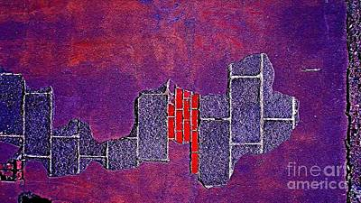 Mature Mixed Media - Wall Of Violet Textures by Contemporary Luxury Fine Art