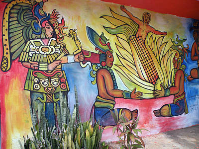Wall Painting In A Mexican Village Art Print