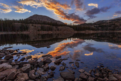 Rockies Photograph - Wall Reflection by Chad Dutson