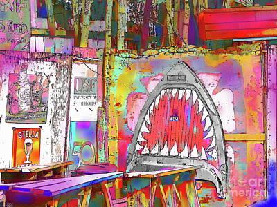 Painting - Wall Shark by Expressionistart studio Priscilla Batzell
