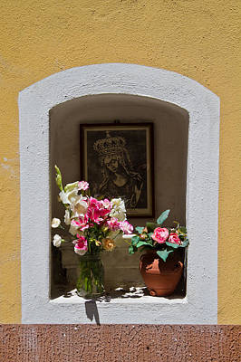 Photograph - Wall Shrine by Roger Mullenhour