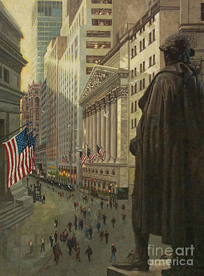 Wall Street 1 Art Print by Gary Kim