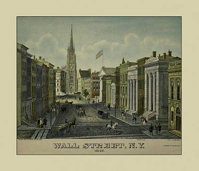 Photograph - Wall Street 1847 by Andrew Fare