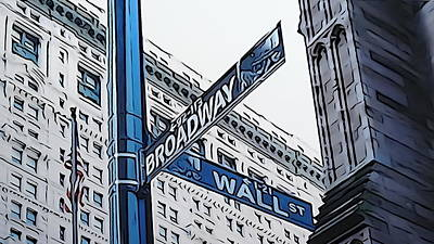 Accounting Mixed Media - Wall Street And Broadway by Clarence Williams