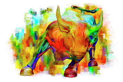 Famous Sculptor Photograph - Wall Street Bull by Jack Zulli