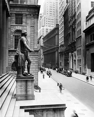 Wall Street Is Virtually Deserted Art Print by Everett