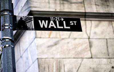 Photograph - Wall Street by John Rizzuto