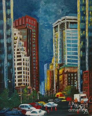 Painting - Wall Street by Milagros Palmieri