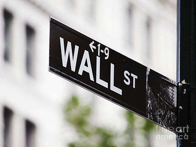 Photograph - Wall Street Sign by Jeremy Woodhouse