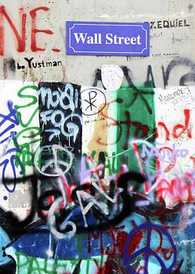 Photograph - Wall Street Sign by Munir Alawi