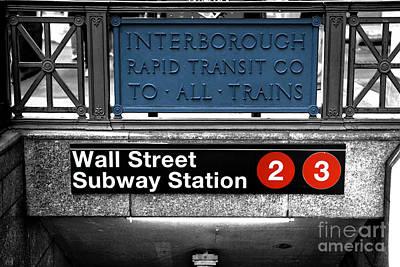 Photograph - Wall Street Subway Station Fusion by John Rizzuto