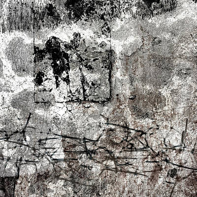 Photograph - Wall Texture Number 15 Square 01 by Carol Leigh