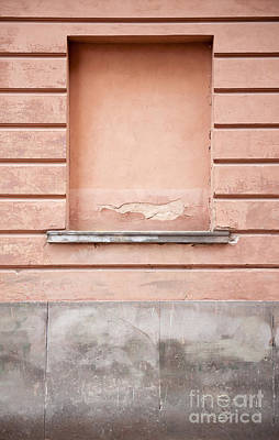 wall up blank false window in Old Town Warsaw Art Print