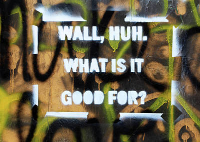 Photograph - Wall What Is It Good For by Munir Alawi