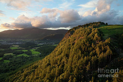 Photograph - Walla Crag From Falcon Crag At Sunset by Gavin Dronfield