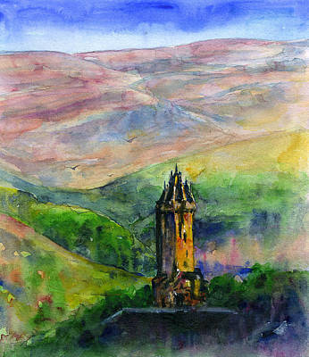 Painting - Wallace Monument Scotland by John D Benson