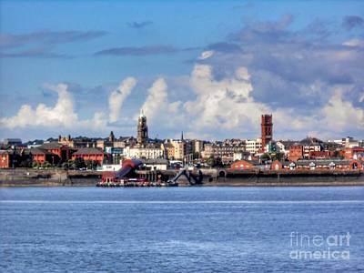 Photograph - Wallasey Skyline by Joan-Violet Stretch