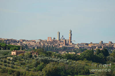 Walled City Of Siena In Italy Art Print by DejaVu Designs