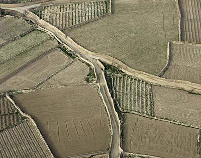 Walled Fields Near Bagram Art Print by Tim Grams