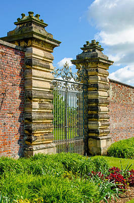 Photograph - Walled Garden Gate by Shanna Hyatt