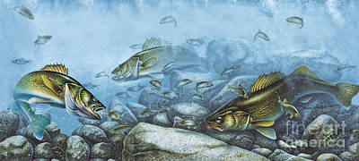 Painting - Walleye Reef by Jpn Q Wright