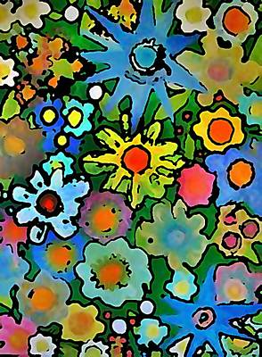Rollingstone Painting - Wallflowers by Gregory McLaughlin