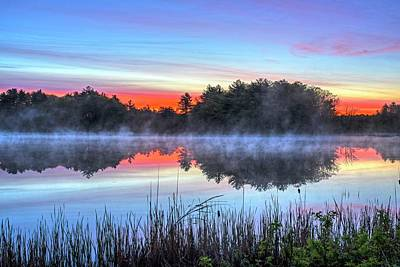 Photograph - Wallis Sands Marsh Smoke On The Water Rye Nh by Toby McGuire