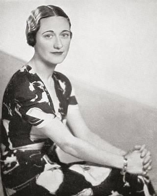 Wallis Simpson, Previously Wallis Art Print by Vintage Design Pics